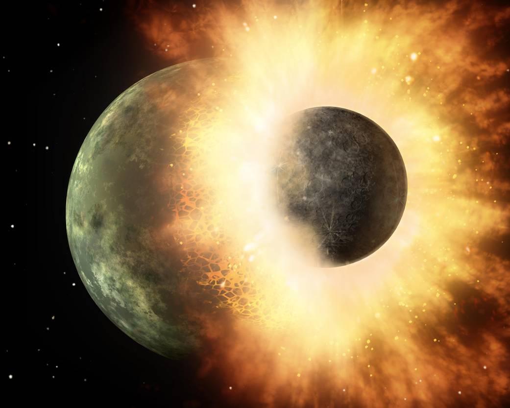 origini della luna